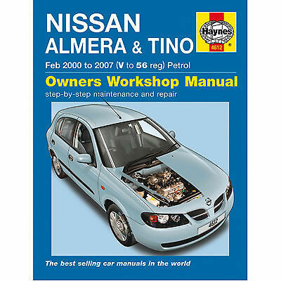 Nissan Almera & Tino 2000 to Sept 2007 Haynes Manual