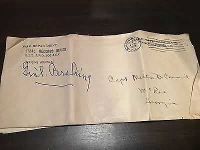 WWI Letter GEN. PERSHING U.S. ARMY CPT. MEDICAL OFFICER EUROPE WORLD WAR PAIRS