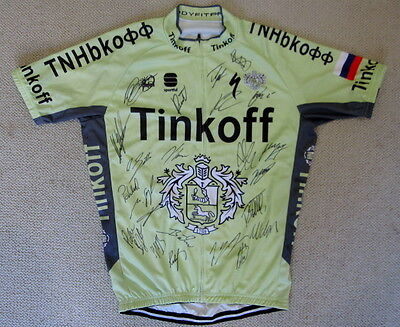 2016 Tinkoff team signed cycling jersey Contador Peter Sagan +21 Tour de France