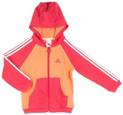 Size Infants 2/3 Years Old - Adidas Originals 3 Stripes Full Zip Hooded Top