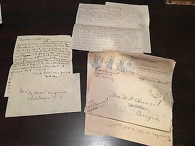3 WWI LetterS U.S. ARMY CPT. MEDICAL OFFICER EUROPE WORLD WAR PAIRS