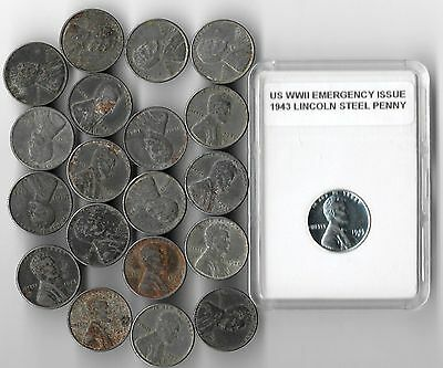 Rare Old WWII US Military Collectible Wartime Steel Coin Collection 1943 War Lot