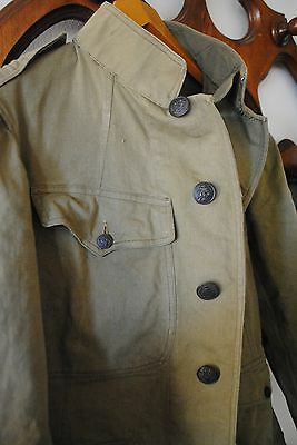 ORIGINAL WW1 US OFFICERS TUNIC JACKET GREAT WAR SUMMER WWI vintage cotton mummy
