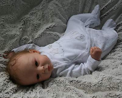 Tim by Gudrun Legler, L.E. reborn baby doll, rooted DD mohair, Lauschaer eyes