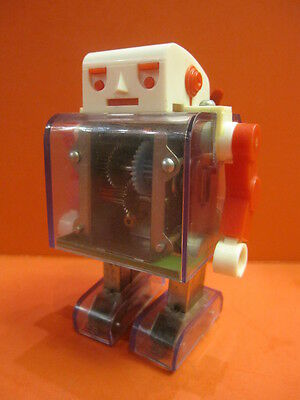 BANDAI Mr ROBOT JUNIOR SEE THRU BATTERY OPERATED SPACE TOY 1969