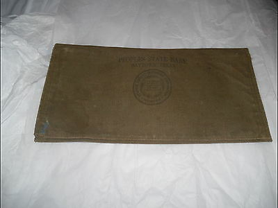Antique Money Bag Peoples State Bank Baytown Texas 3 Compartments
