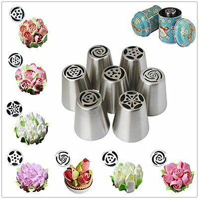 Yakamoz Russian Piping Tips, Rose Tulip Flower Petal Nozzles Cake Decoration –