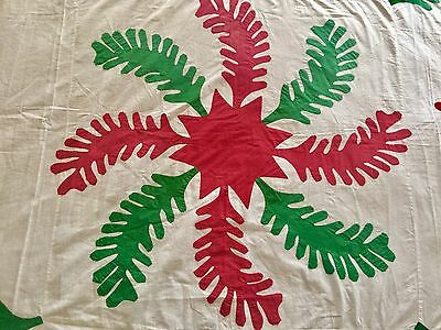 Vintage Quilt Top Great Christmas Colors Red And Green