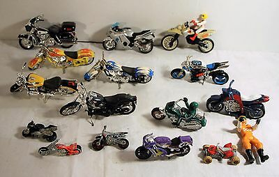 Lot of 16 Toy Motorcycles