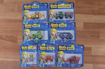 Bob the Builder Racing Champions Collectable Toys Set of 7 Boxed KCHAPMAN 1998