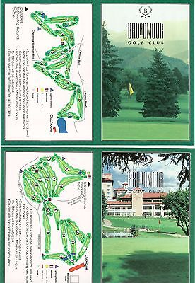 Two New Golf Scorecards From BROADMOOR GOLF CLUB Both The East & West Courses