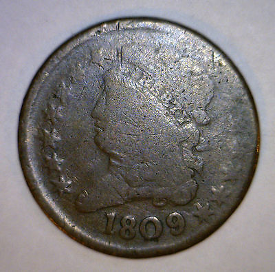 1809 HALF CENT  US Copper Coin 1/2 Penny Estate ORIGINAL Lot #3 MAKE AN OFFER