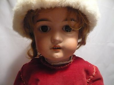 """Max Handwerck Antique Doll 22"""" Made in Germany 2 1/3. Bisque Head. Rare."""