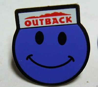 Outback Steakhouse Lapel Pin Hat Pin Outback Smiley Face Purple