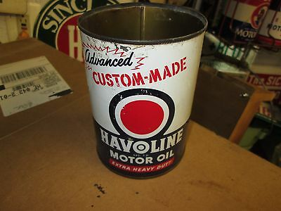 Early Original Havoline Motor Oil One Quart Can Metal