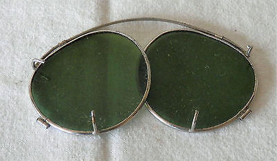 Retro Vintage Tinted Clip-On Sunglasses 1950's