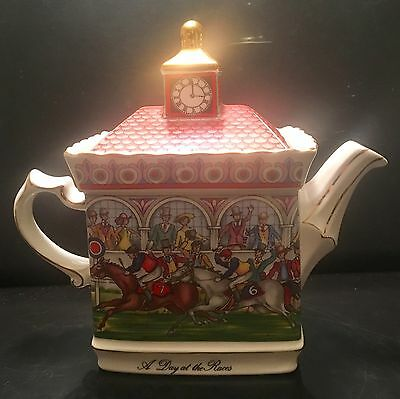 Sadler Championship - A Day at the Races Collector Teapot