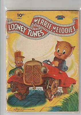 Looney tunes and Merrie Melodies comics #9 G- 1942 Dell awesome painted cover