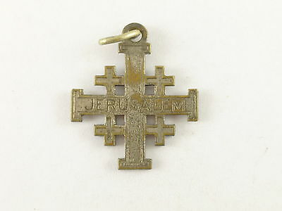 Vintage Jerusalem Coptic Cross Religious Charm Pendant Made in France