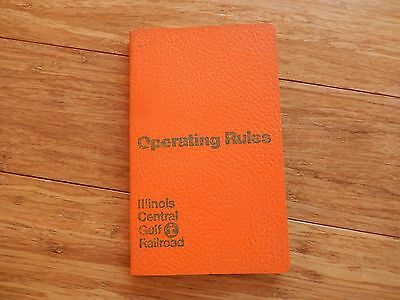 Vintage 1974 Illinois Central Gulf Railroad OPERATING RULES Book
