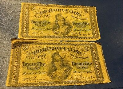 Dominion Of Canada Twenty Five Cents March 1st 1870