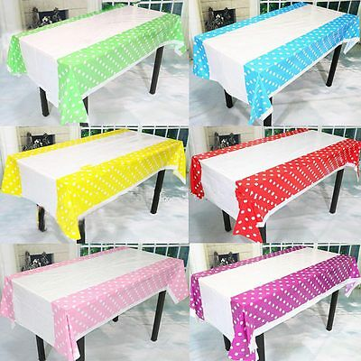 Colorful Polka Dots Plastic Disposable Table Cloth For Birthday Party Decoration