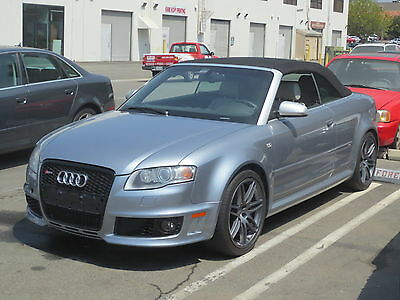 2008 Audi RS4 Cabriolet Convertible 2-Door 2008 AUDI RS4 V8 4.2L 6 SPEED MANUAL SILVER ON SILVER QUATTRO SALVAGE TITLE