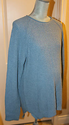 NWT GAP Maternity Blue Cozy Sweater Tunic Top Size Large