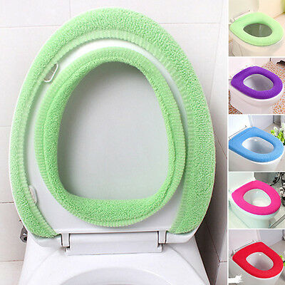 Washable O-Shaped Winter Warm Toilet Seat Cover Mat Closestool Pads For Bathroom