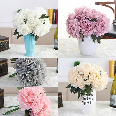 Artificial Fake Peony Silk Flower Bridal Hydrangea Home Wedding Garden Decor