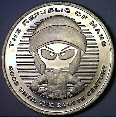 Scarce Marvin The Martian $1 Dollar size Warner Brothers BU Coin Token - NO RES.