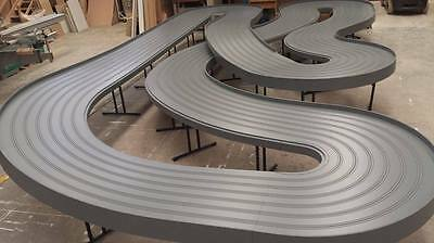6 Lane Wooden Routed Slot Car Track