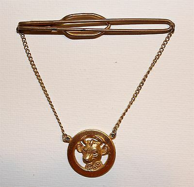 """VINTAGE COLLECTIBLE 1950's """"ELSIE THE COW"""" TIE BAR (HOLDER) BY BORDEN"""