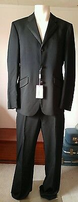 Versace Versus Black Slim Fit Tuxedo Jacket and Pants Brand New with Tags