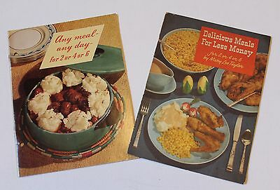 TWO VINTAGE 1940's PET MILK WARTIME (WWII) RECIPE BOOKLETS MARY LEE TAYLOR