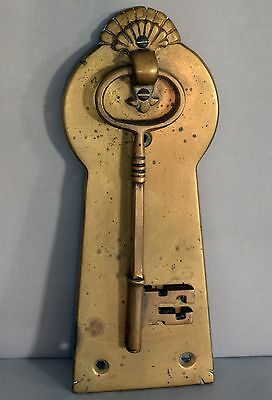 Substantial Antique Bronze Masonic? Key Shaped Door Knocker