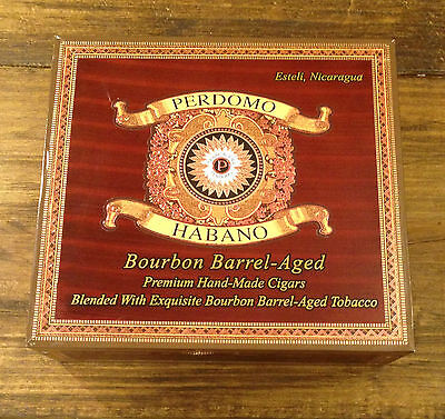 Perdomo Habano Bourbon Barrel-Aged Sun Grown Wood Cigar Box - Nice! (#02)