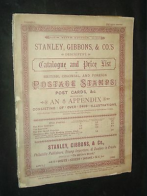 Stanley Gibbons Descriptive Catalog & Price List Fifth Edition 1886 Two volumes