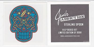Jane's Addiction Temporary Tattoo 2016 Sterling Spoon OFFICIAL PROMO New Mint
