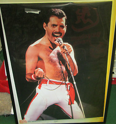 Freddie Mercury Rare New Poster Mid 2000's Vintage Collectable Queen Live