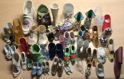 Miniature Glass Shoe Collection