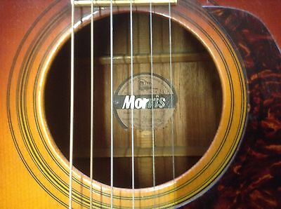 Vintage morris acoustic guitar mij very nice player,Martin 70s copy?