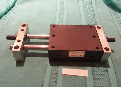 "PHD Pneumatic Slide Cylinder MS 042x2 1/8 NPT Ports 1-1/16"" Bore Good condition"
