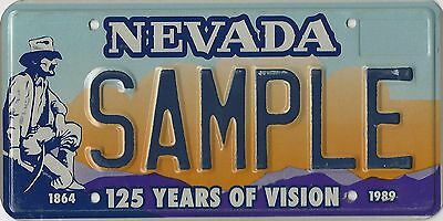 Nevada sample plate  125 Years of Vision. 1864-1989