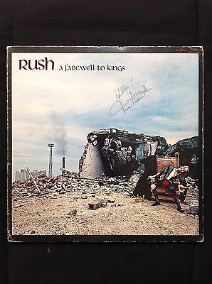 """Rush Fully Signed """"A Farewell To Kings"""" Vintage Signatures"""