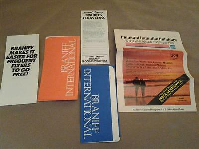 BRANIFF AIRLINES lot ticket jackets brochures
