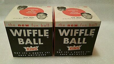2 King wiffle balls. Whitey Ford and Tom Tresh on boxes. New old stock