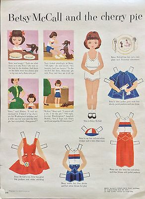 Betsy McCall Mag. Paper Doll, Betsy McCall and the Cherry Pie, Feb., 1953