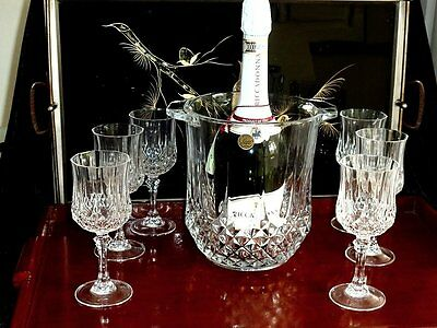 Gorgeous Vintage French Crystal D'arques Longchamp Large  Champagne Ice Bucket