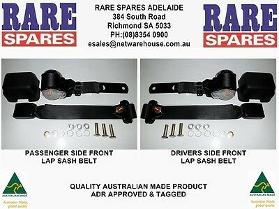 Holden HQ HJ HX HZ WB Utility Front Bench Seat Belt Set of 2 Retractable Style